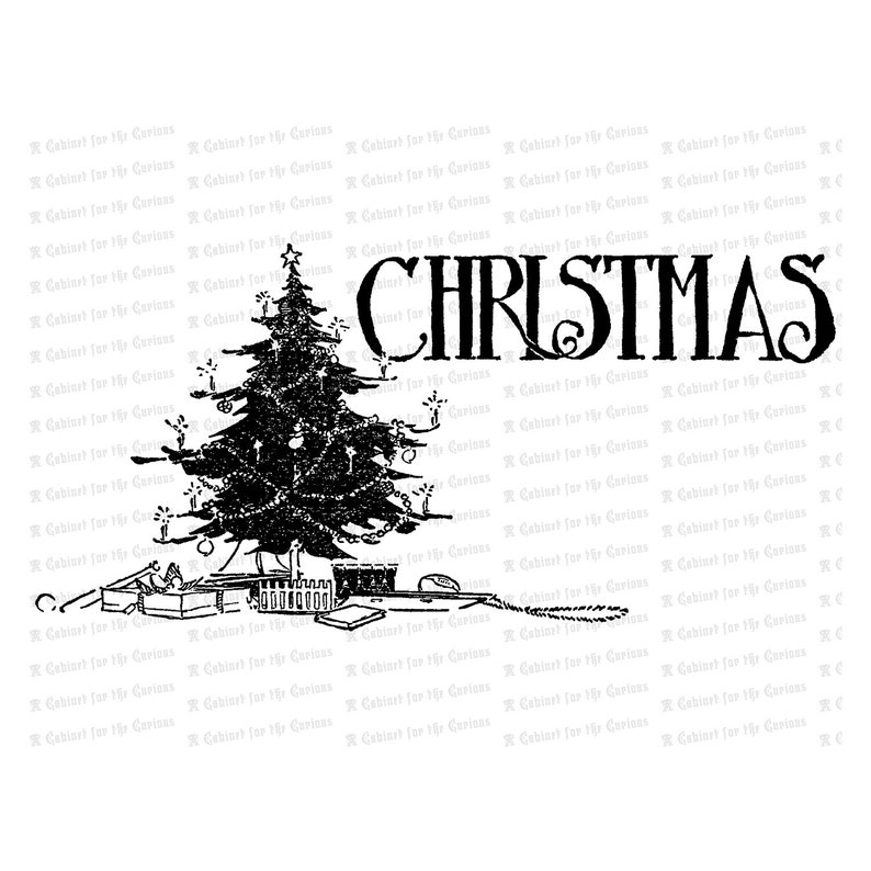 Vintage Christmas Tree Antique Xmas Tree Vector Clipart Instant Download Svg Png Jpg