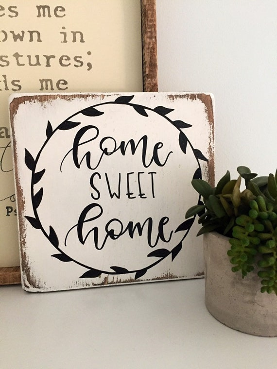 Home Sweet Home Sign Decorative Signs With Sayings Wood Signs Sayings Wood Signs Rustic Signs Housewarming Gifts