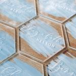 Hexagon Acrylic Place Cards