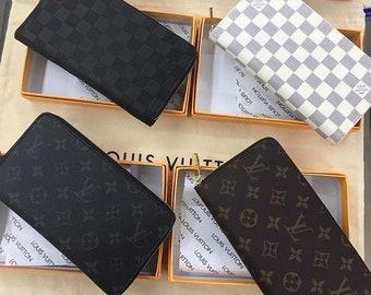Lv Zippy wallet wallet,louis vuitton ,leather wallet,damier ebene wallet,LV  business card holder,Handmade leather wallet,lv card wallet 94cd3d32c75