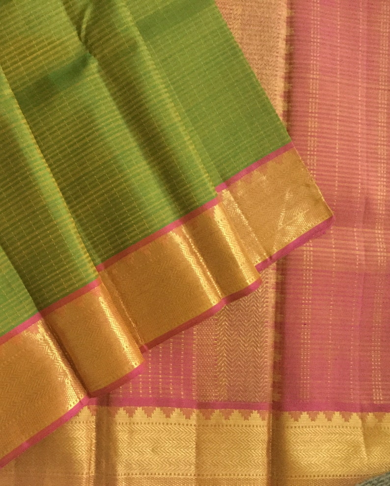 5c353d4448f65 Pure Handloom Kanchipuram silk saree with Pure Zari Dark