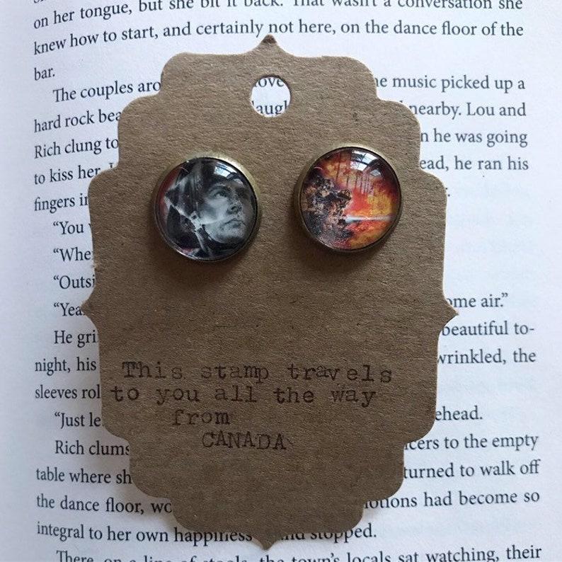 Cufflinks with stamp