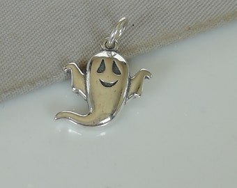 Ghost Gift Halloween Necklace Ghost Necklace Sterling Silver