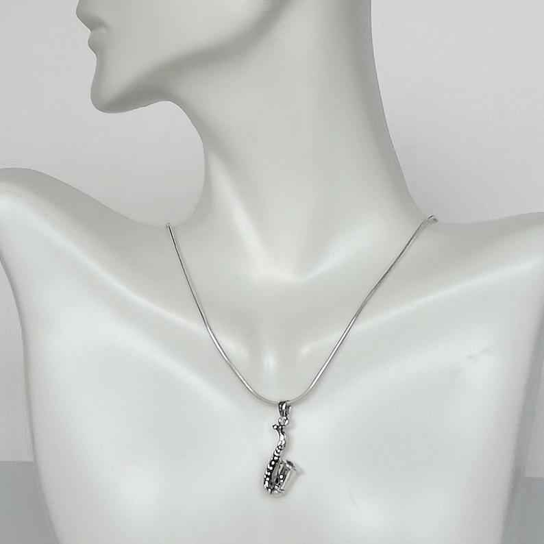Delicate Bracelet Girl Key Chain Saxophone Necklace Music Jewelry Silver Bracelet PD127 Wrist Charm Music Teacher Gift
