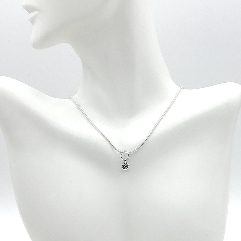 Flower neck charm Tiny flower bracelet Boho silver neck charm PD105 Sterling silver charm for neck Silver multipurpose charm