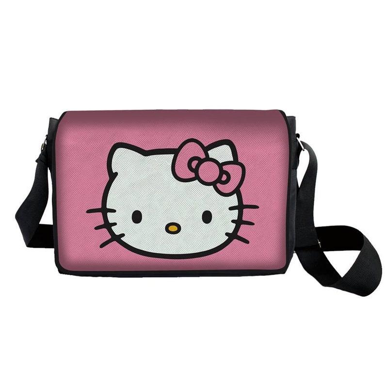 4e777f2f2 Hello Kitty Messenger Sling Bag Pink Backpack Kitty Lovers | Etsy