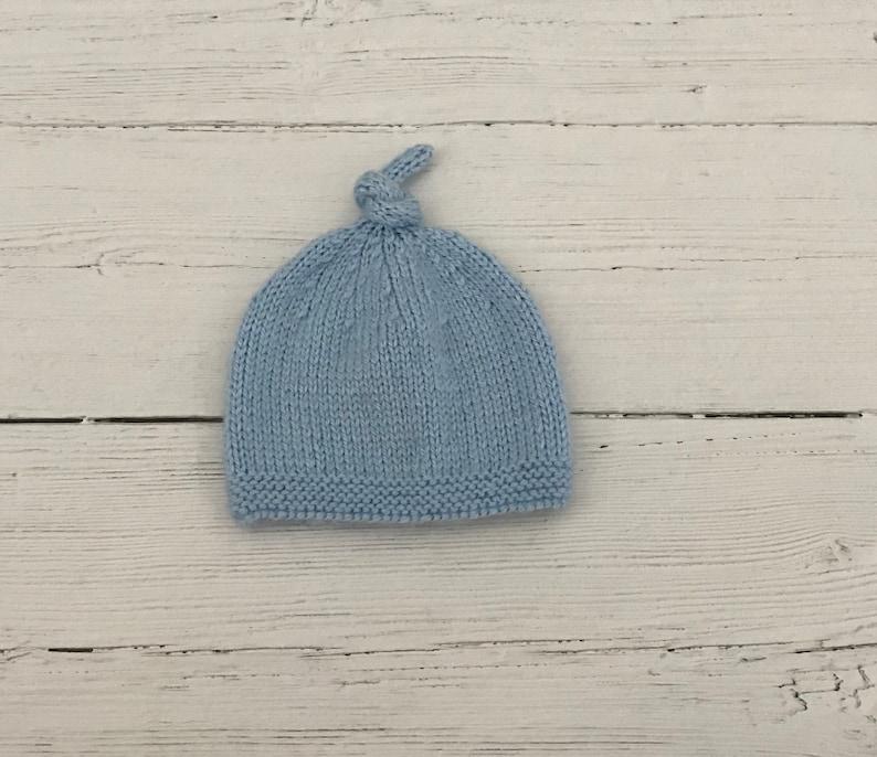 Blue baby hat baby boy shower gift