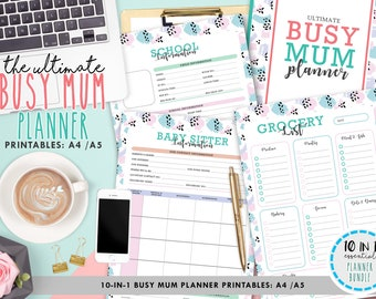 busy mom planner etsy