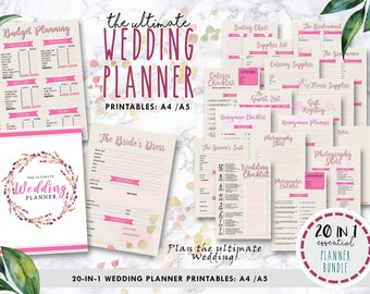 printable wedding planner etsy