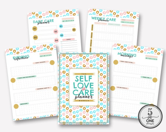 The Self Love & Care Bundle Planner Self Care Workbook Self Love  Journal Self Care Planner  A4 and A5 Printable PDF