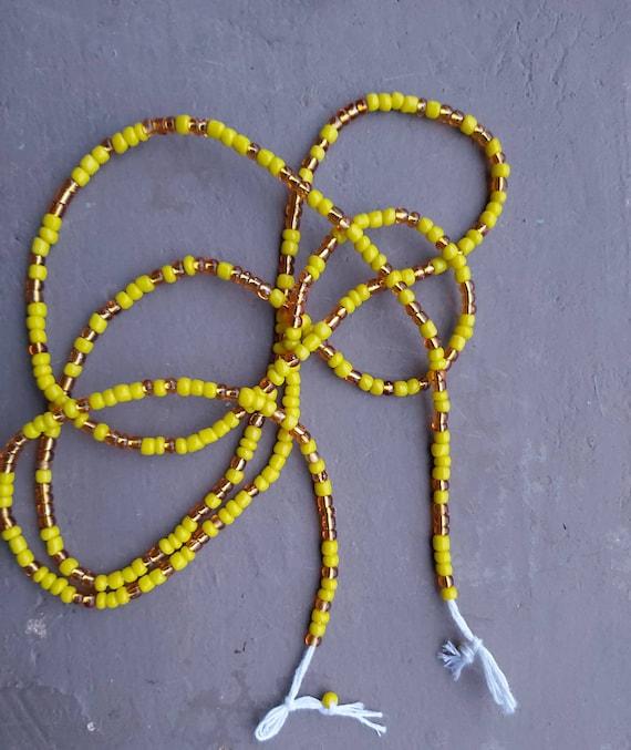 Waist Beads for Weight loss Adjustable Waist Beads Waist Bead Set Thread Waist Beads Cotton Thread Waist Bea ON SALE TIE On Waist Beads