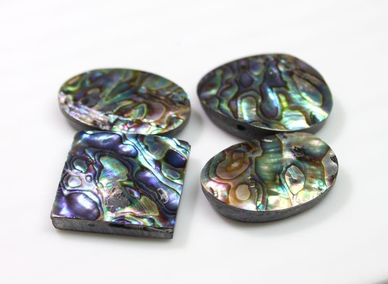 Size 21X30 To 24X31 MM 4 PCs Abalone shell Abalone shell Mix Shape Cabochon 150 Carats Abalone shell Cabochon Natural Abalone shell