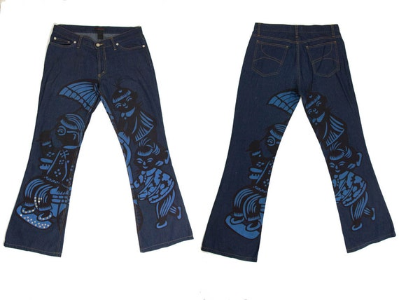 Custo Barcelona 90s, Nineties Trousers, Printed J… - image 1