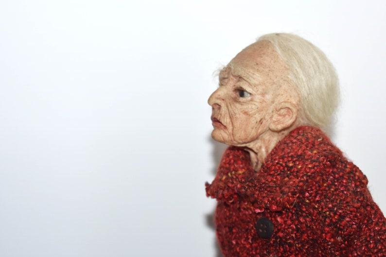 Sicilian Old Woman Lifelike Silicone Sculpture image 0