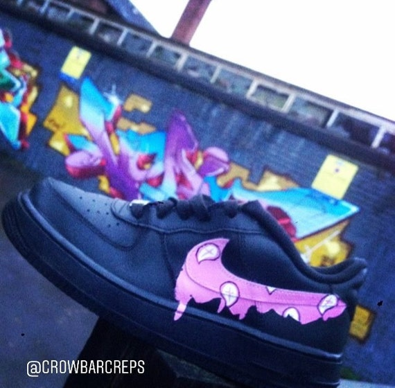 Drippy Swoosh Only Nike Air Force One Custom Bandana Paisley Etsy