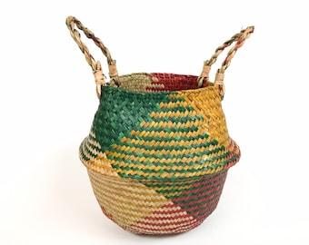 Boho basket - plant container, storage, decor