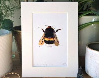 Cracked Gold Leaf Bumblebee Print