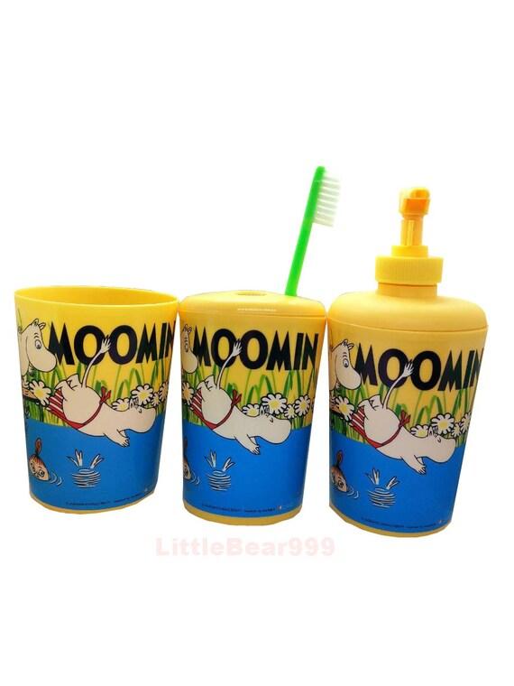 Moomin Lover. Little My Barthroom Set Authentic 3 Pcs Green Moomin