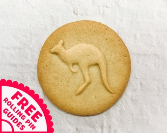 3D Printed Mini and Standard Sizes Kangaroo Sitting Cookie Cutter