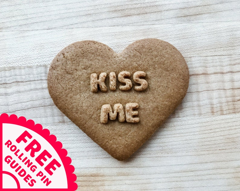 KISS ME Conversation Heart Cookie Cutter image 0