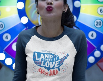 Land that I Love Vintage Baseball T-Shirt