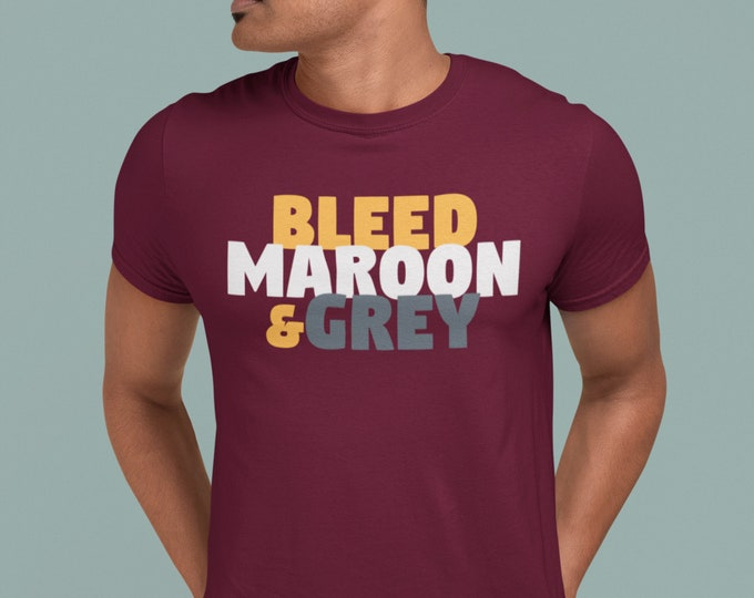 Featured listing image: Bleed Maroon & Grey T-Shirt