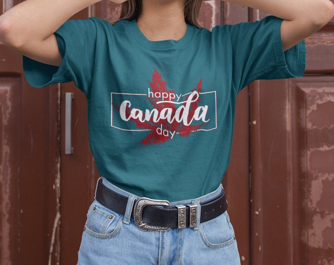 Happy Canada Day Brushed T-Shirt