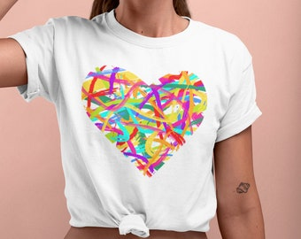 Abstract Pride Heart T-Shirt