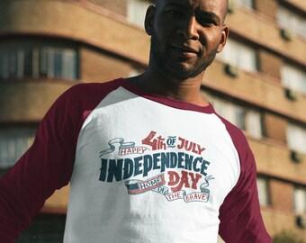 4th of July Vintage Baseball T-Shirt