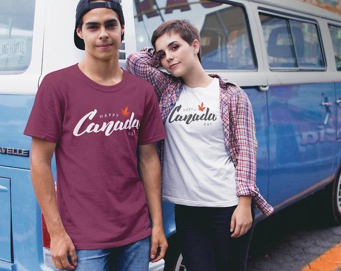 Happy Canada Day Handwritten T-Shirt