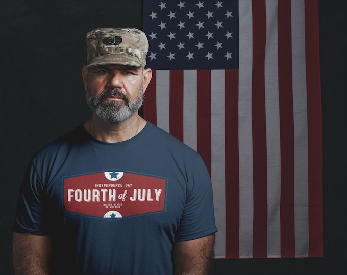Retro 4th of July Shield T-Shirt