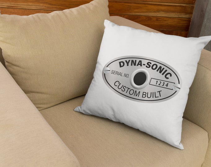 Roger's Dyna-Sonic Badge with Your Serial Pillow Cover