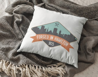 Forged in Hamilton Pillow Cover