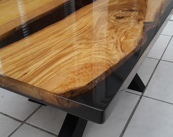 tisch holz harz etsy. Black Bedroom Furniture Sets. Home Design Ideas