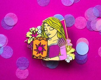 9c19e8301 Rapunzel Spring Break Enamel Pin