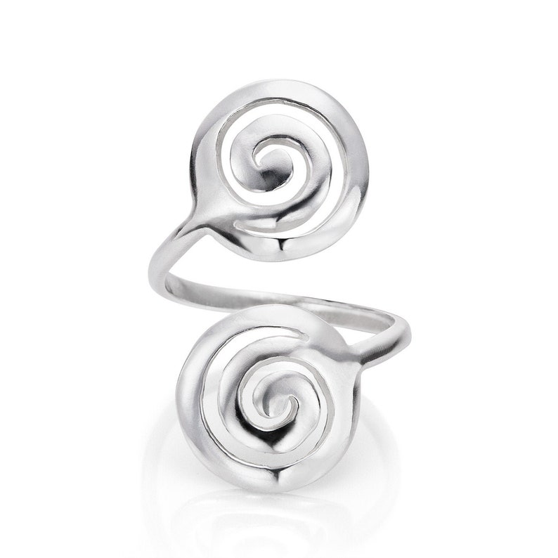 Boho Ring Gift for Friend Sterling Silver Ring Celtic Ring Adjustable Ring Silver Spiral Ring Gift for Her Everyday Ring for Women