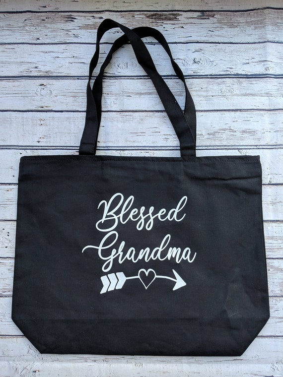 Tote Bag With Zip I Am One Blessed.granma