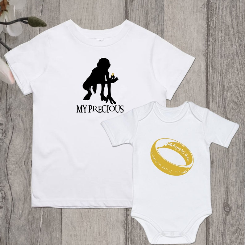FATHERS DAY GIFT Lord of the Rings shirts, father son gifts, dad baby  gifts, father matching