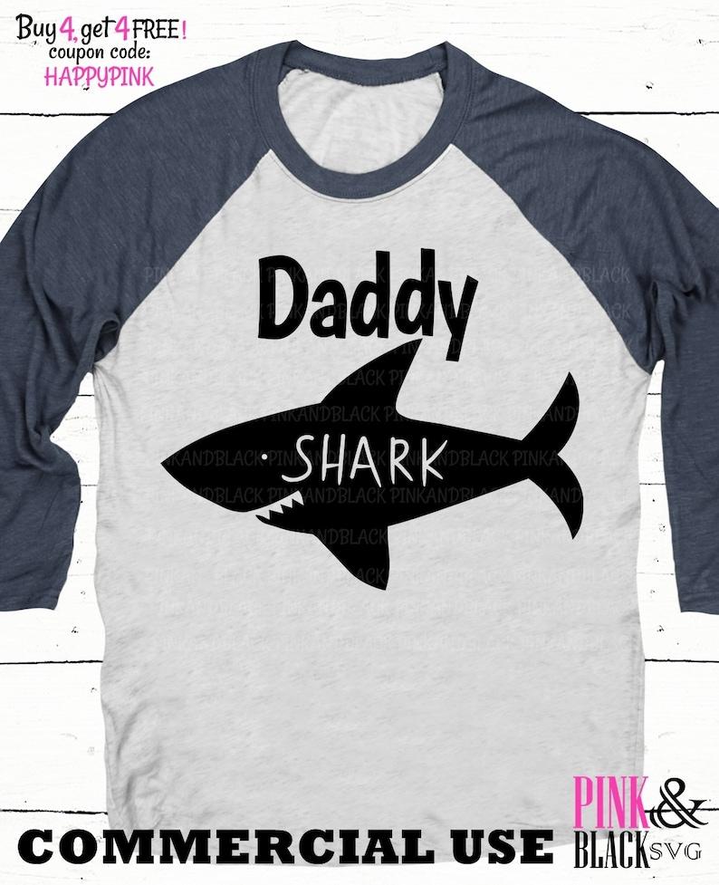 shark silhouette svg,shark commercial use svg Daddy shark svg daddy shark cut file shark svg