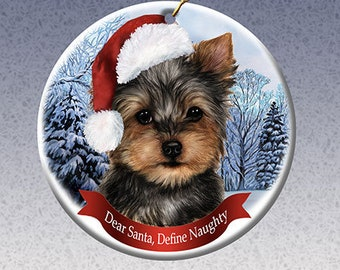 Yorkie ornament | Etsy