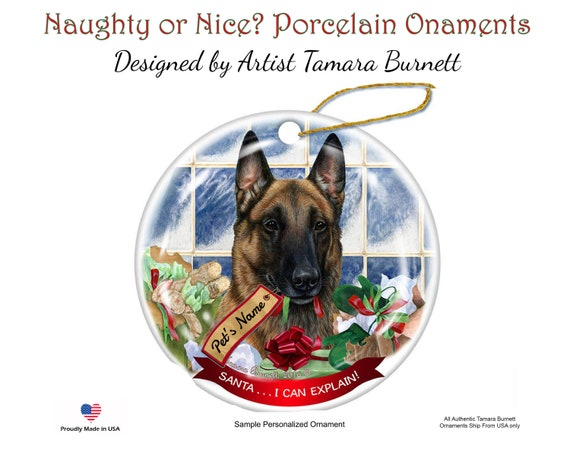 I Love My Belgian Malinois Dog Ornament Pet Lover Keepsake Gift Christmas