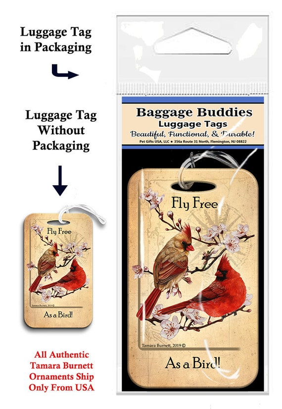 2 Pack Luggage Tags Cardinals Bird Handbag Tag For Travel Tags Accessories