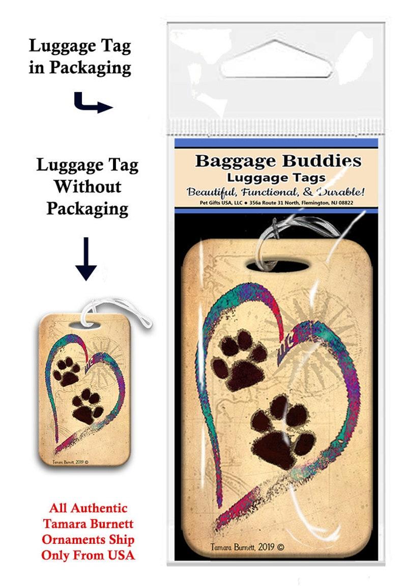 Baggage Buddies Luggage Tag Purple Heart