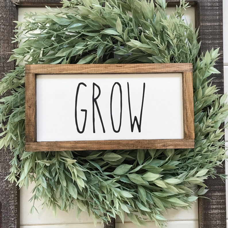 Set of 3 Signs Grow Plant Bloom Wood Signs / Spring Decor / Mothers Day  Gift Ideas / Easter Gift Ideas / Plant Lady Decor