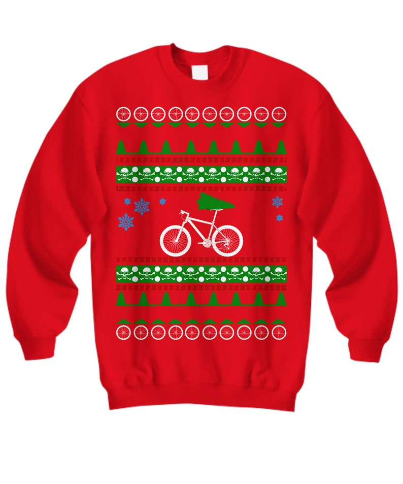 MOUNTAIN BIKE Ugly Christmas Sweater Off Road Biking Holiday  190da86f0