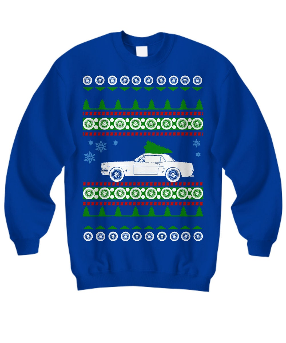 Ford Mustang 1965 Ugly Christmas Sweater Hot Rod Xmas Gift Etsy