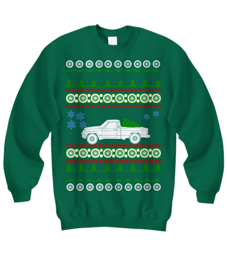 JEEP CHRISMTAS UGLY JUMPER SWEATER CAR OFFROAD