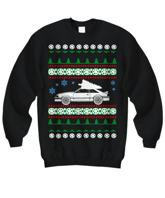Ford Mustang Gt 1980s Ugly Christmas Sweater Hot Rod Xmas Etsy
