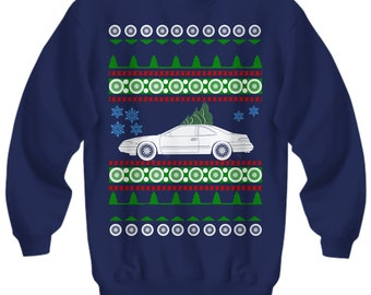 1993 Lincoln Mark VIII Ugly Christmas Sweater mark 8 Hot Rod Xmas Gift Drag Racing American Iron hot rod Fast Car Holiday Party