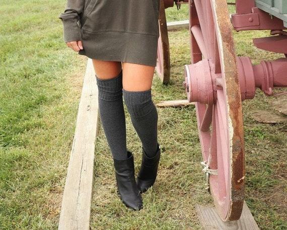 Womens Girls Stripe Over The Knee Thigh High Stretchy OTK Socks Fancy Dress ↔